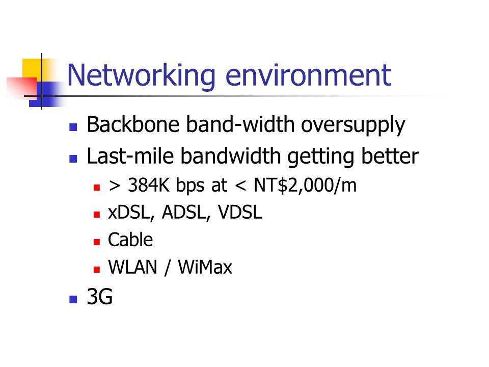 Networking environment