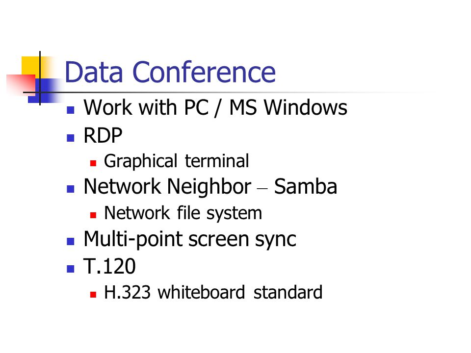 Data Conference Work with PC / MS Windows RDP Network Neighbor – Samba