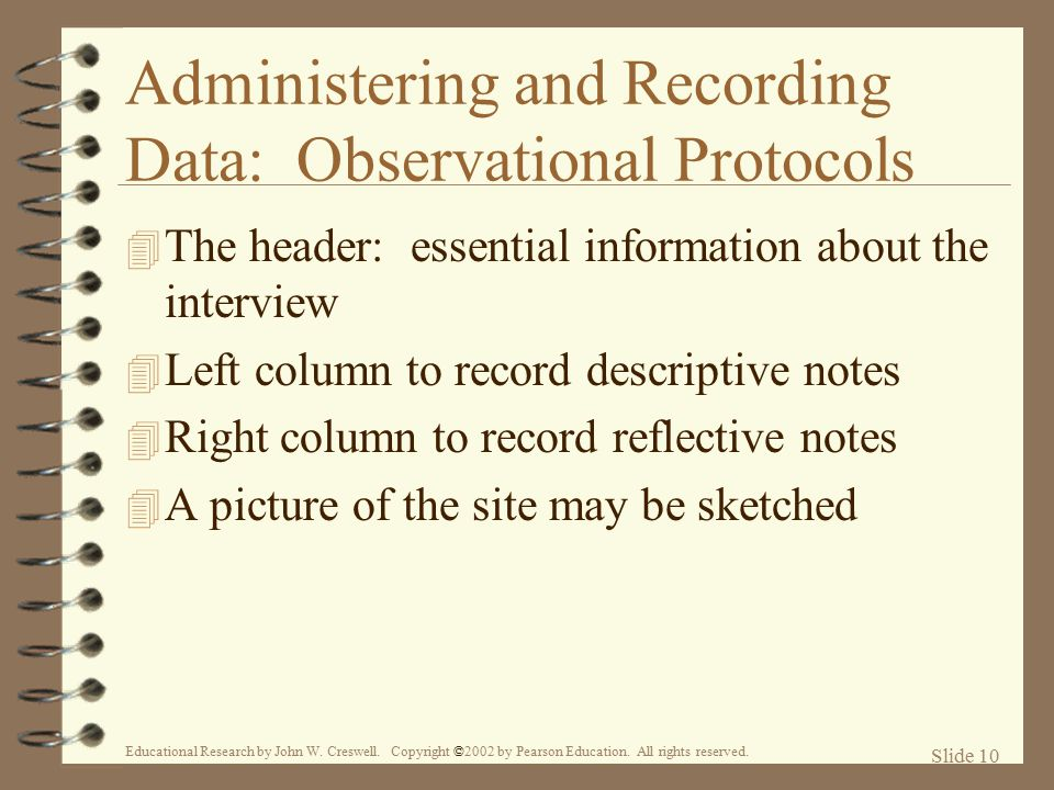 Administering and Recording Data: Observational Protocols