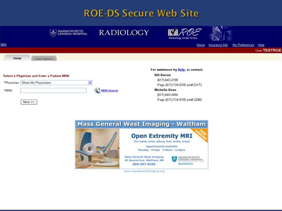ROE-DS Secure Web Site