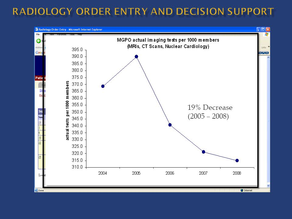 radiology Order entry and decision support