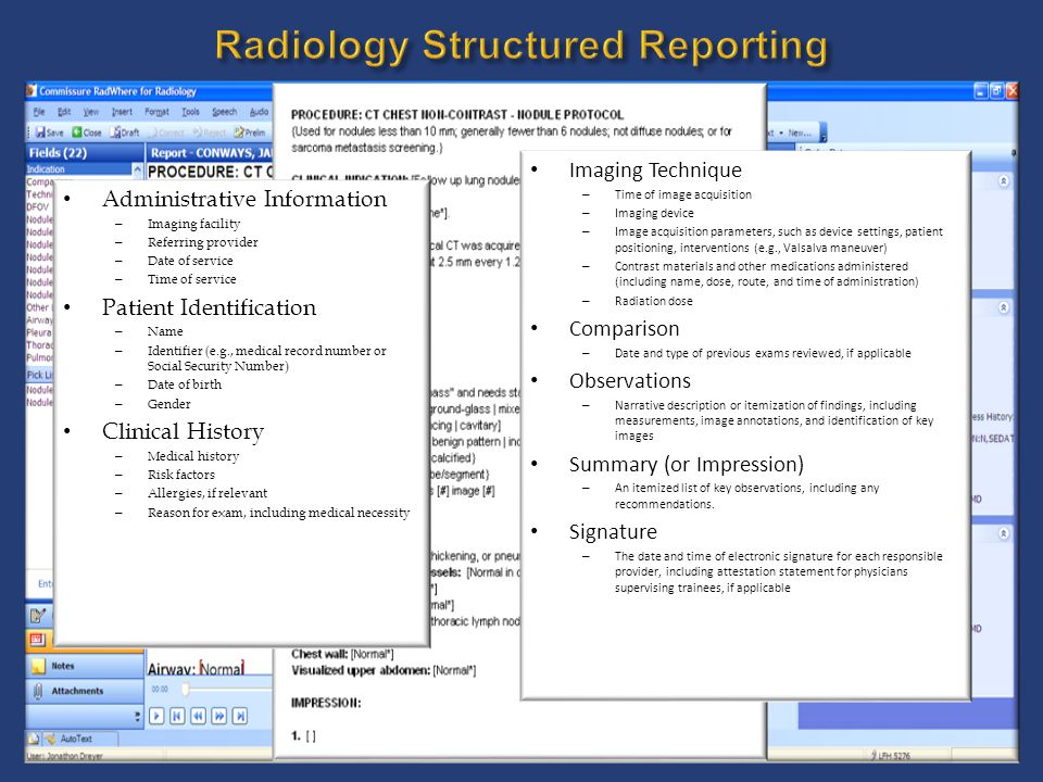 Radiology Structured Reporting