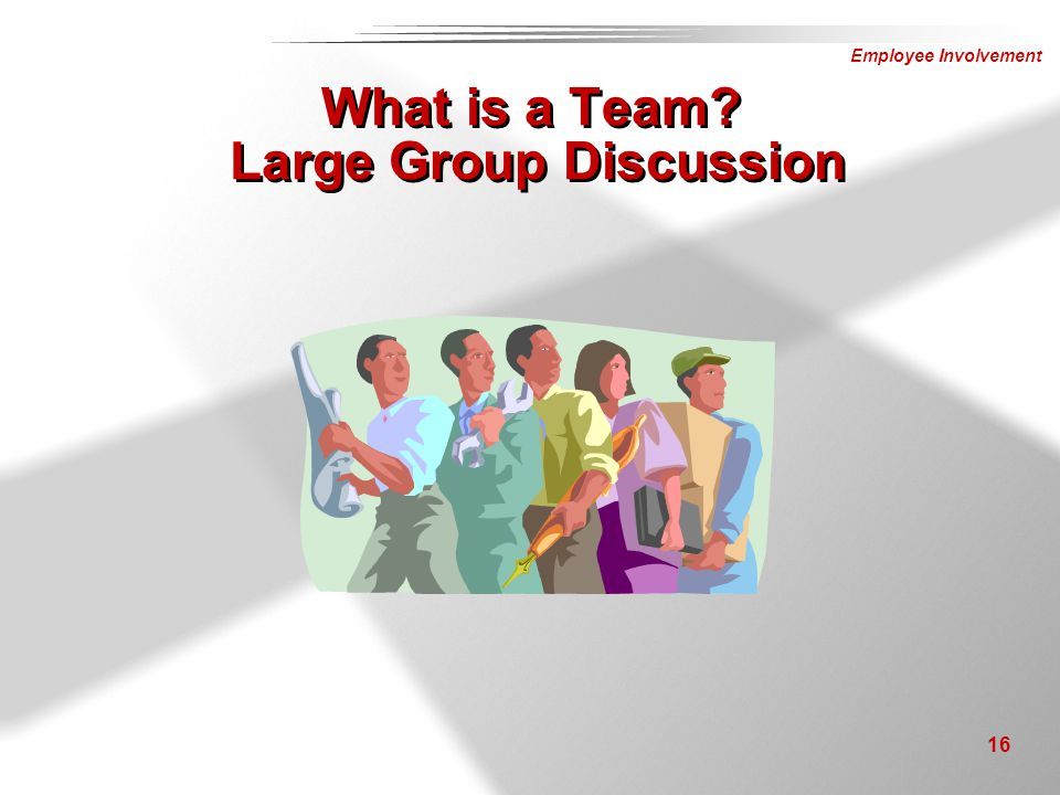 What is a Team Large Group Discussion