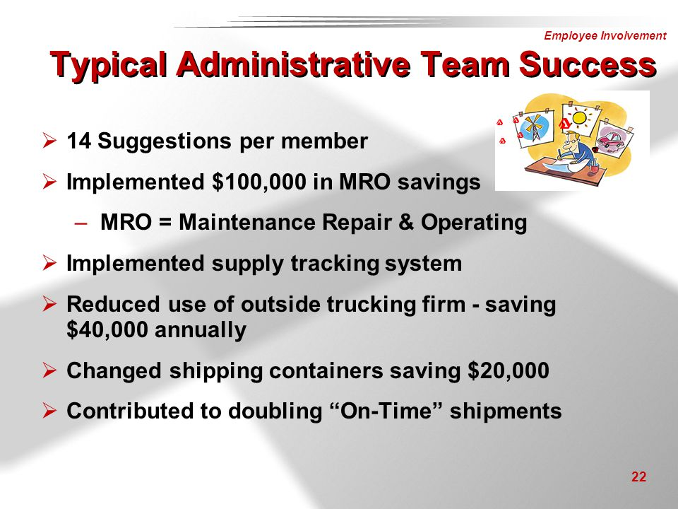 Typical Administrative Team Success