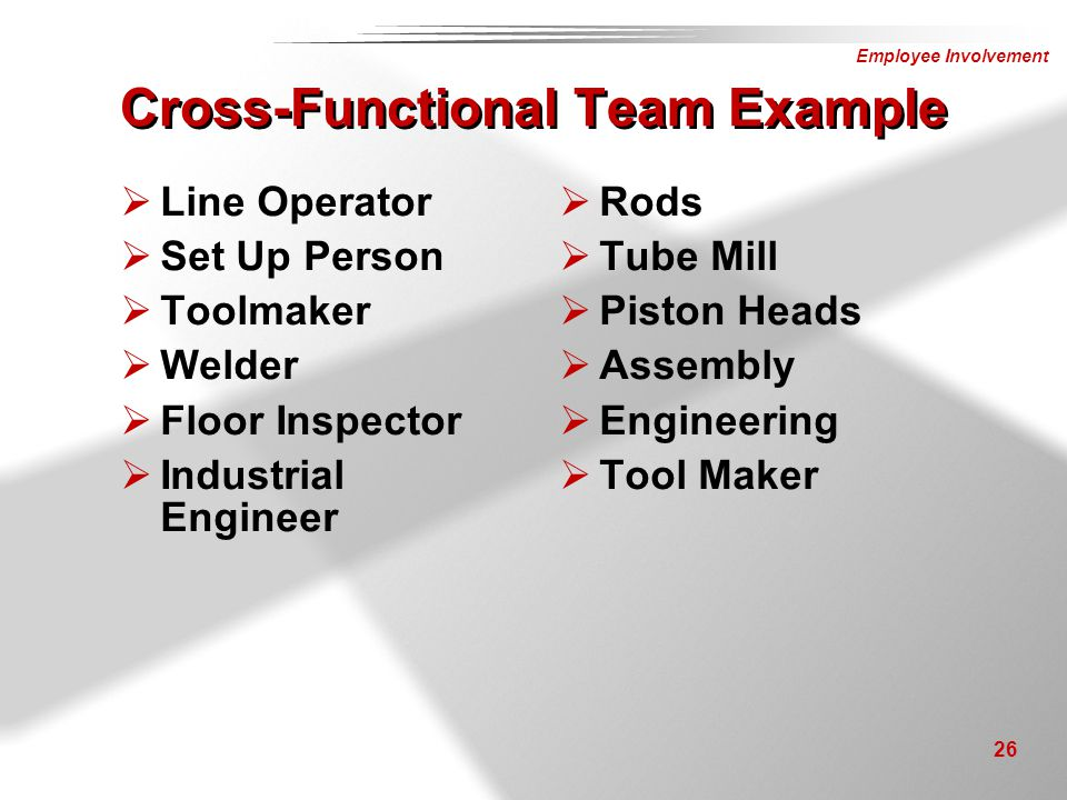 Cross-Functional Team Example