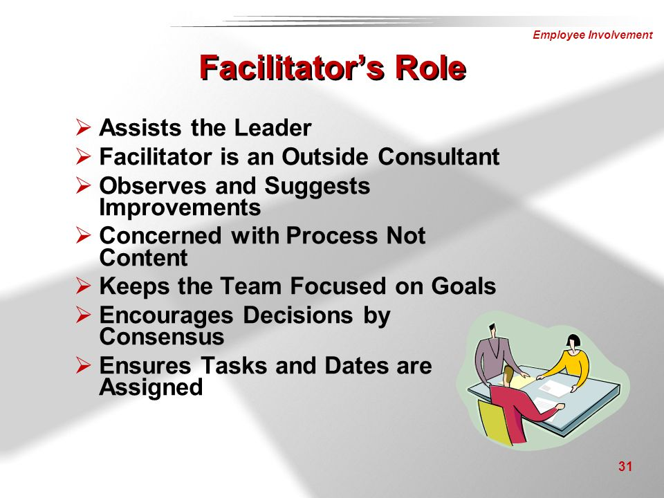 Facilitator's Role Assists the Leader