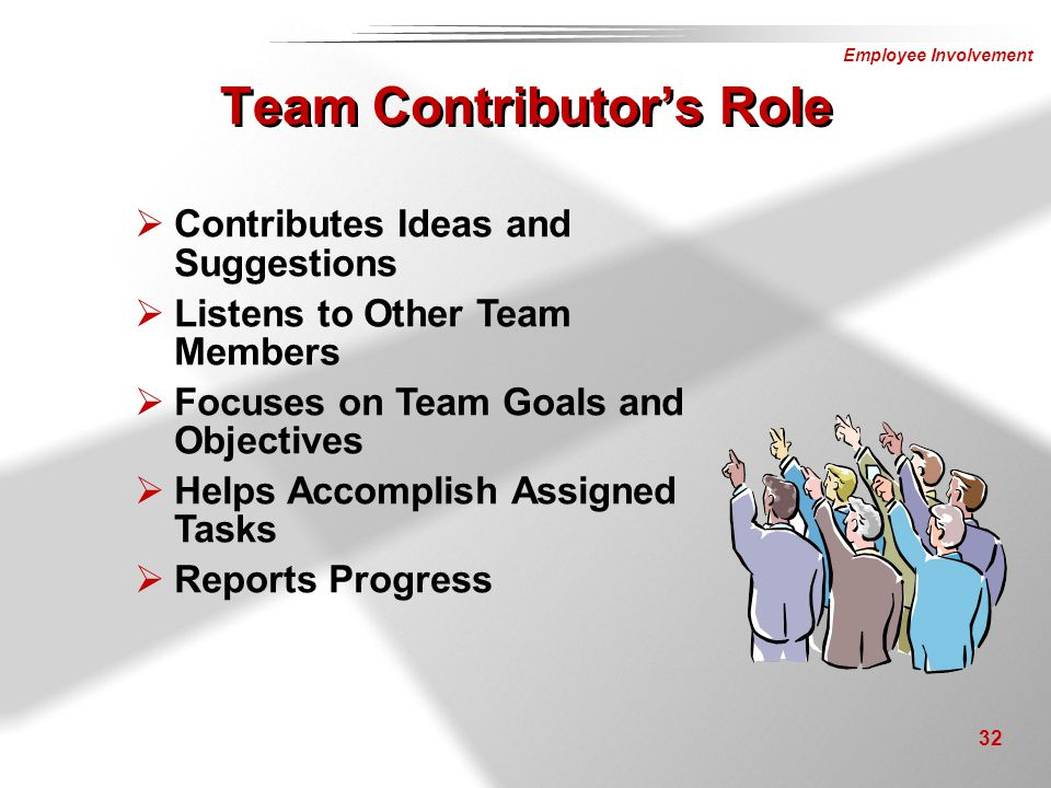 Team Contributor's Role