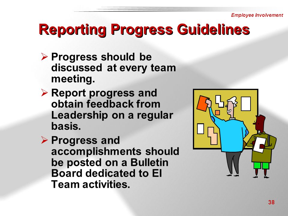 Reporting Progress Guidelines