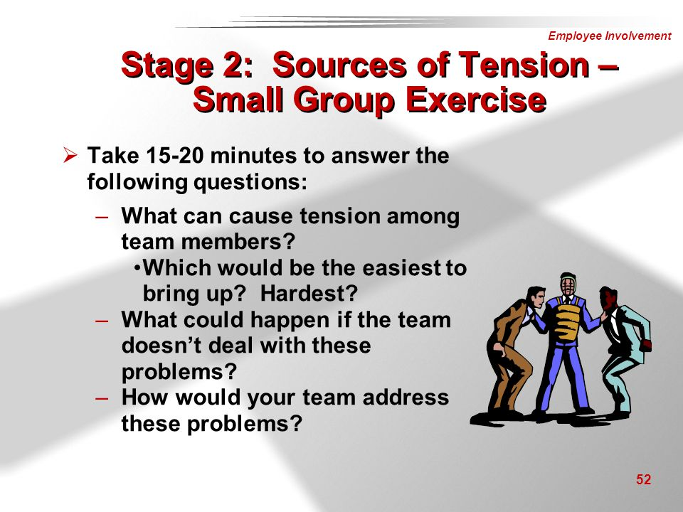 Stage 2: Sources of Tension – Small Group Exercise
