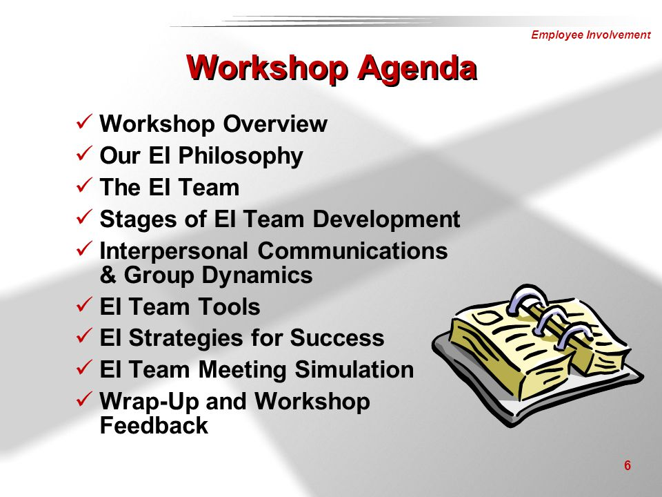 Workshop Agenda Workshop Overview Our EI Philosophy The EI Team