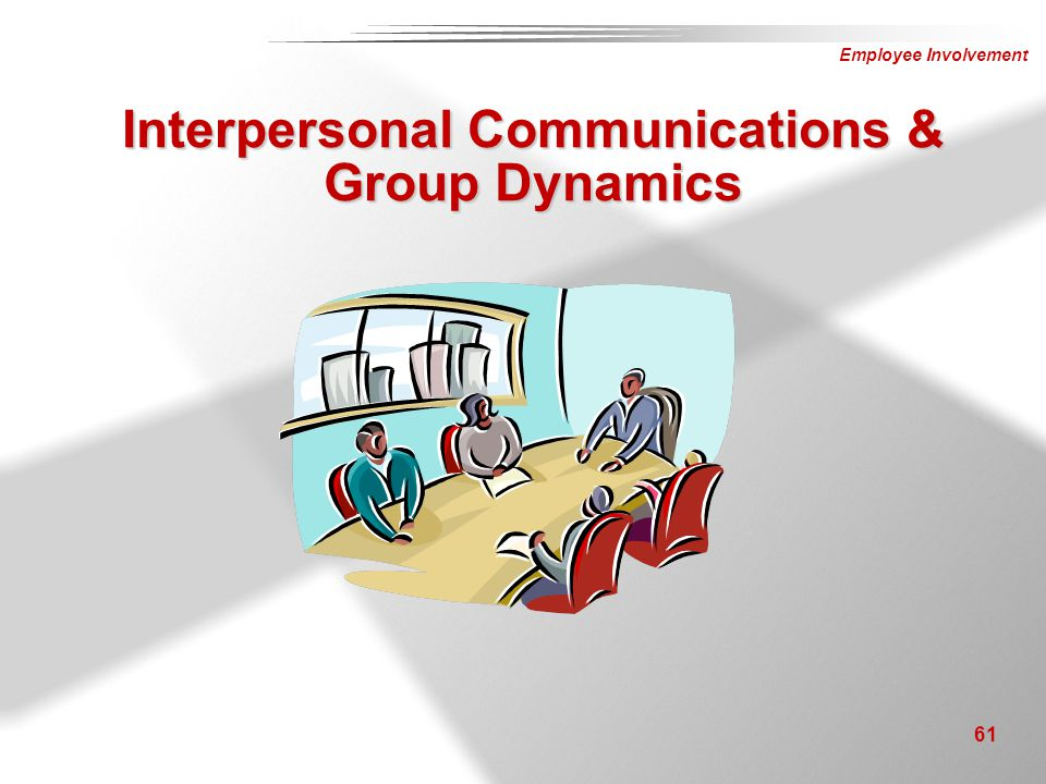 Interpersonal Communications & Group Dynamics