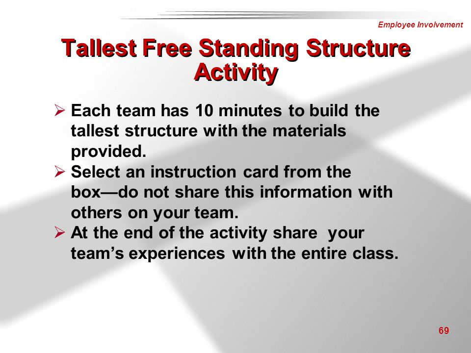 Tallest Free Standing Structure Activity