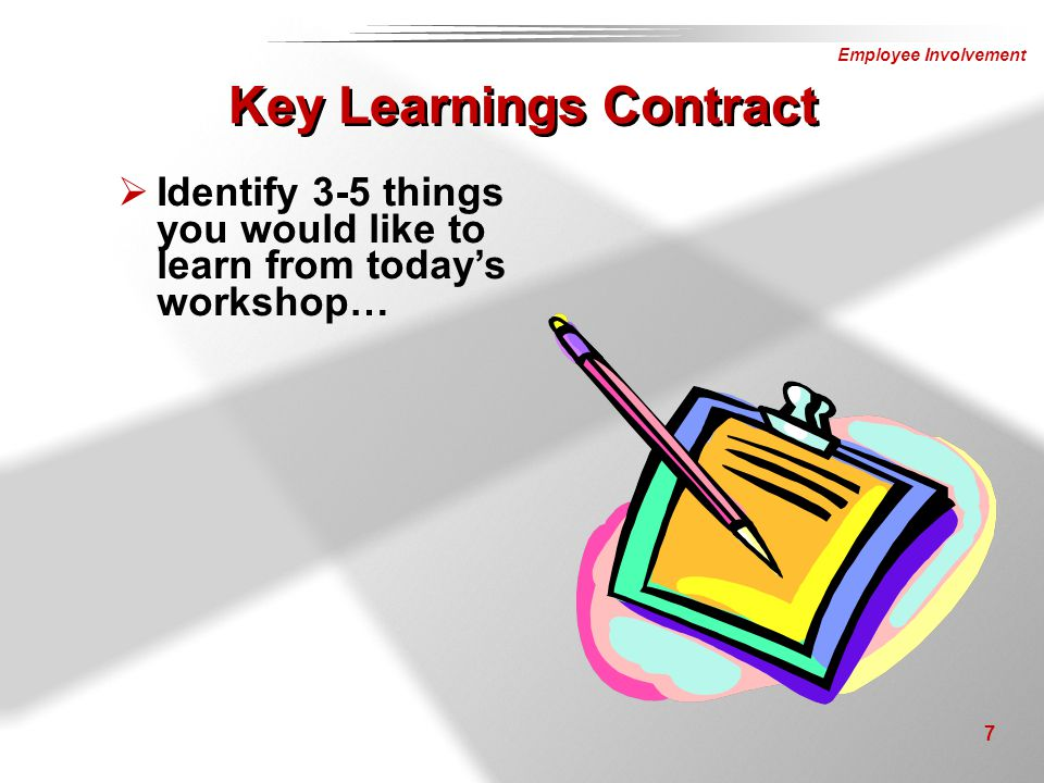 Key Learnings Contract