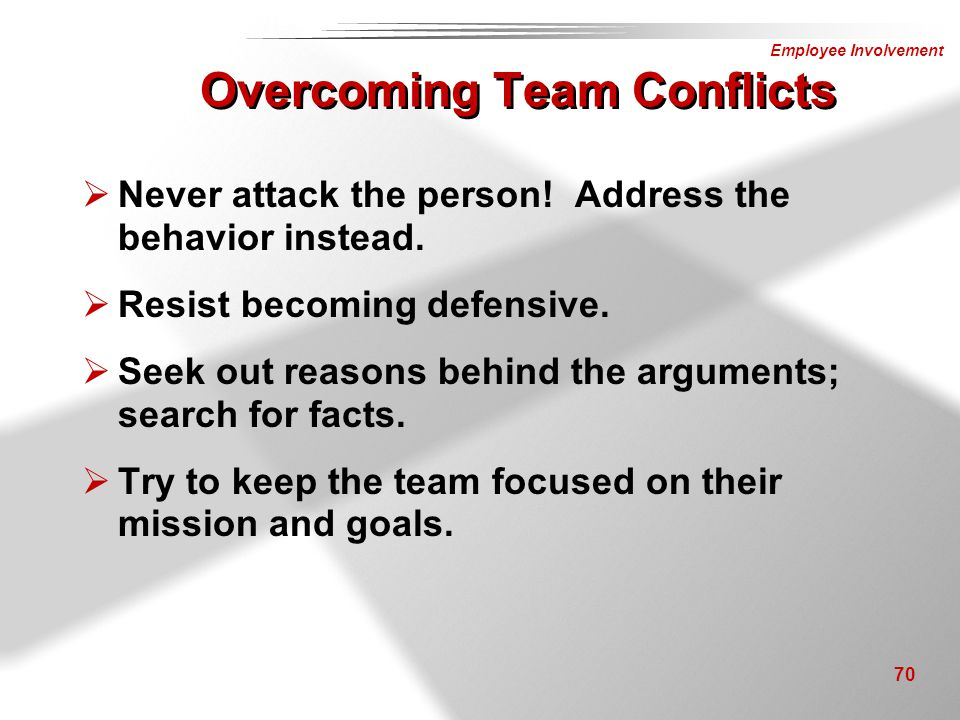 Overcoming Team Conflicts