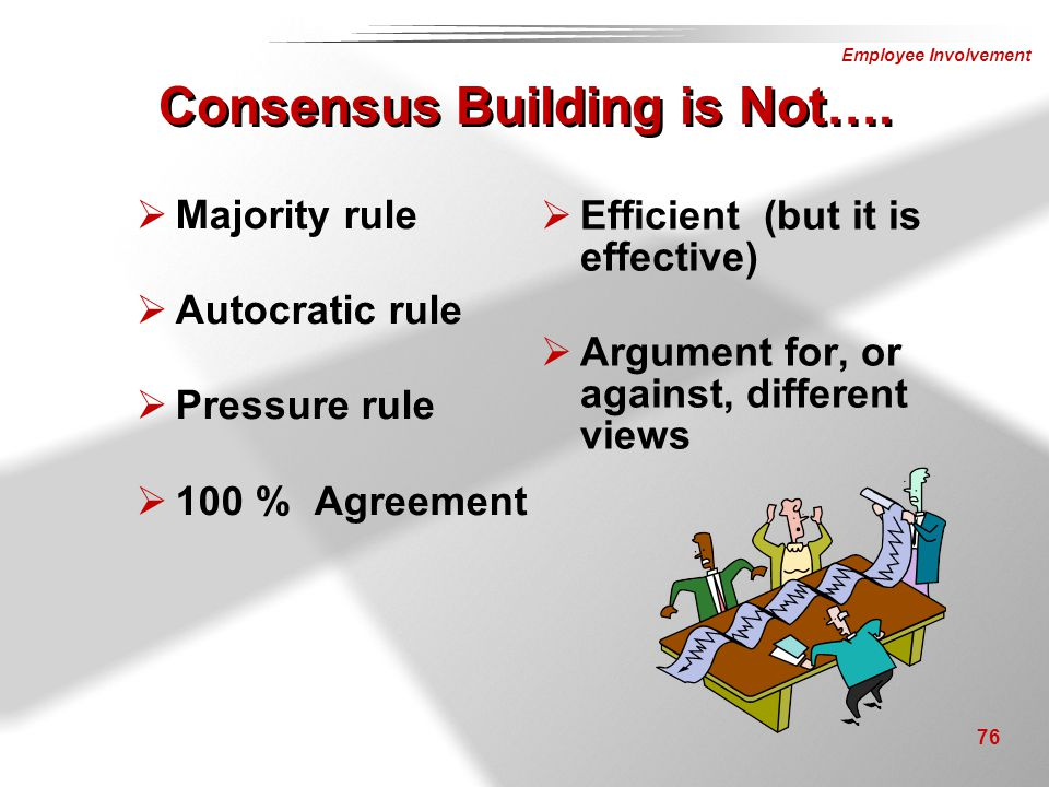 Consensus Building is Not….