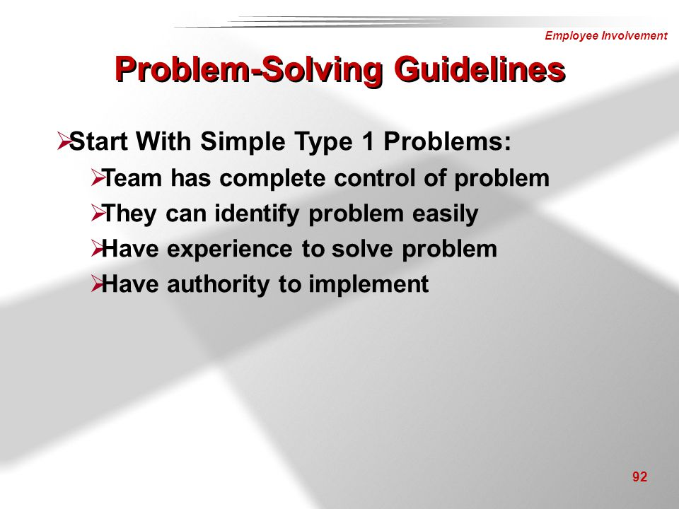 Problem-Solving Guidelines