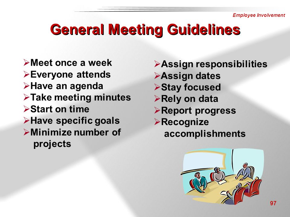 General Meeting Guidelines