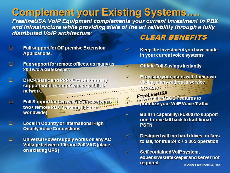 Complement your Existing Systems…