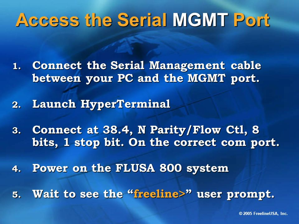 Access the Serial MGMT Port