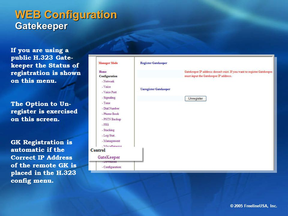 WEB Configuration Gatekeeper