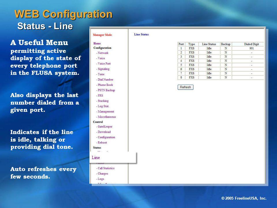 WEB Configuration Status - Line