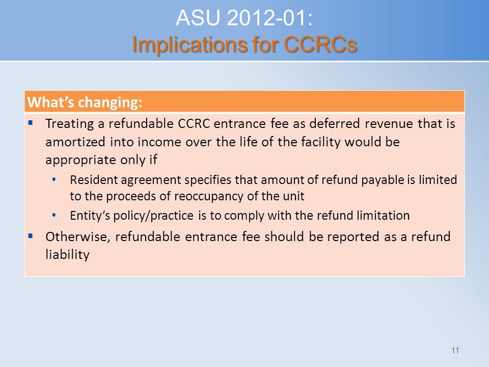 ASU 2012-01: Implications for CCRCs