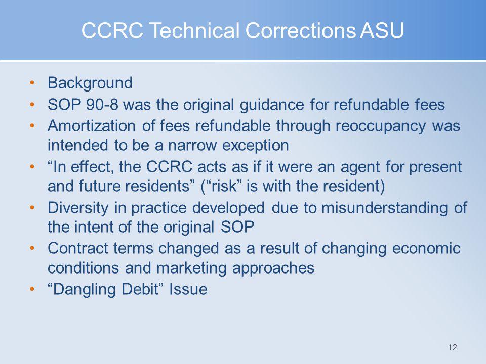 CCRC Technical Corrections ASU