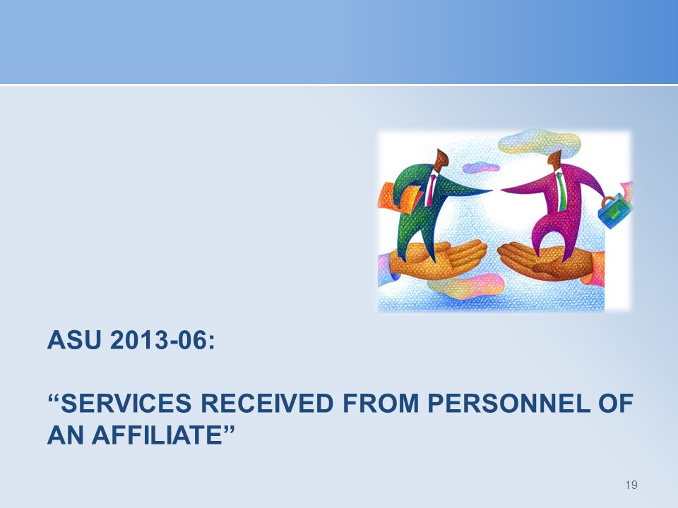 ASU 2013-06: Services Received from Personnel of an Affiliate