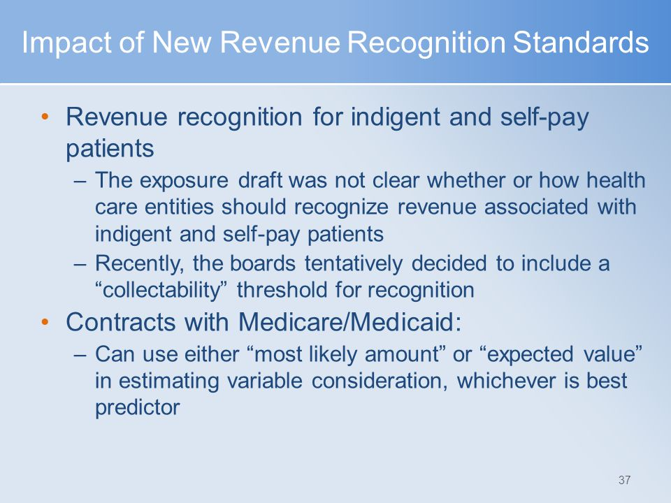 Impact of New Revenue Recognition Standards
