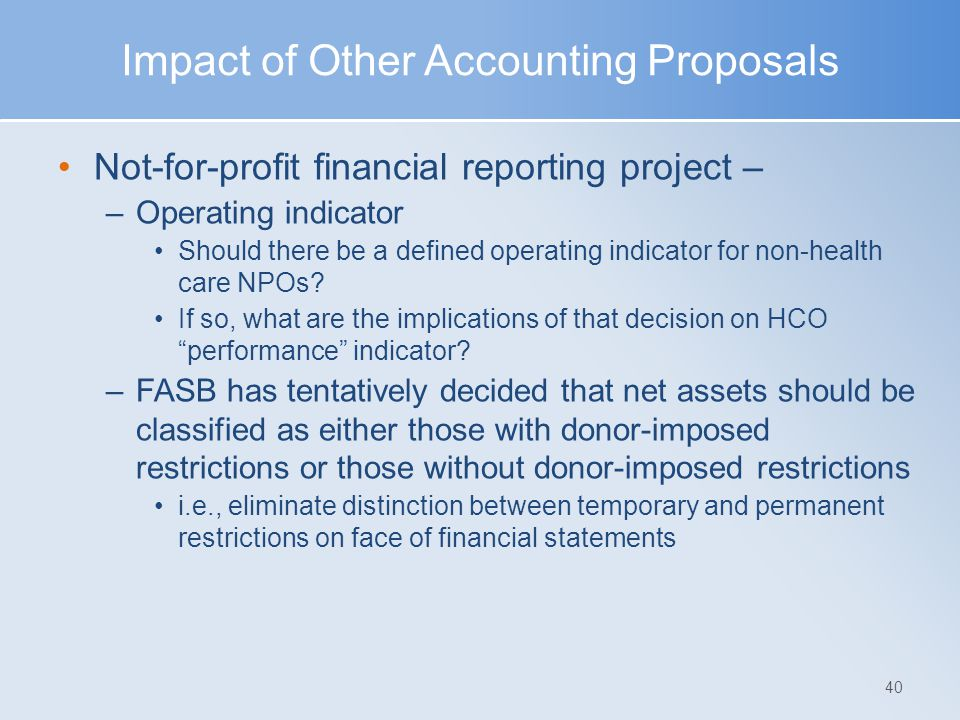 Impact of Other Accounting Proposals
