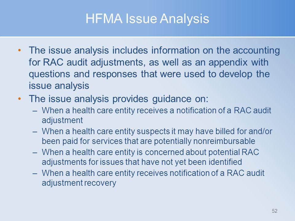 HFMA Issue Analysis