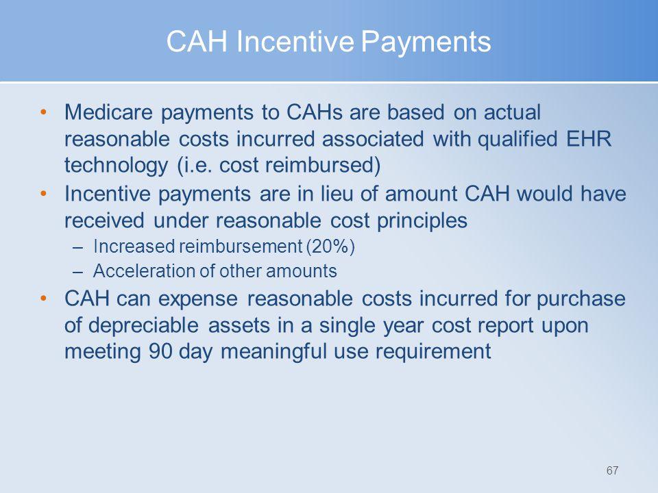 CAH Incentive Payments