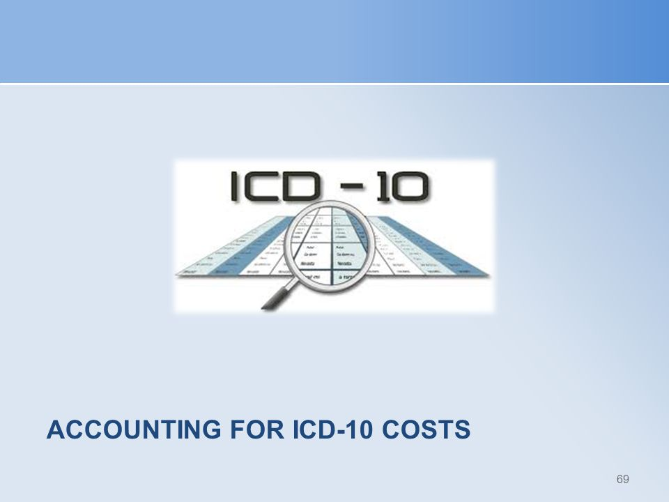 Accounting for ICD-10 Costs