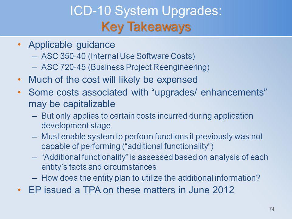 ICD-10 System Upgrades: Key Takeaways