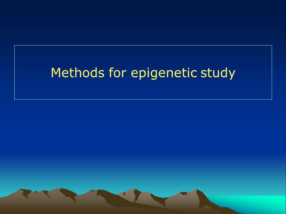 Methods for epigenetic study