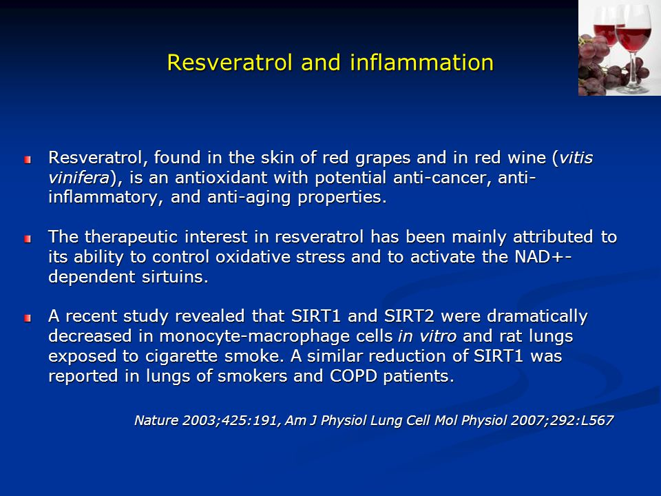 Resveratrol and inflammation