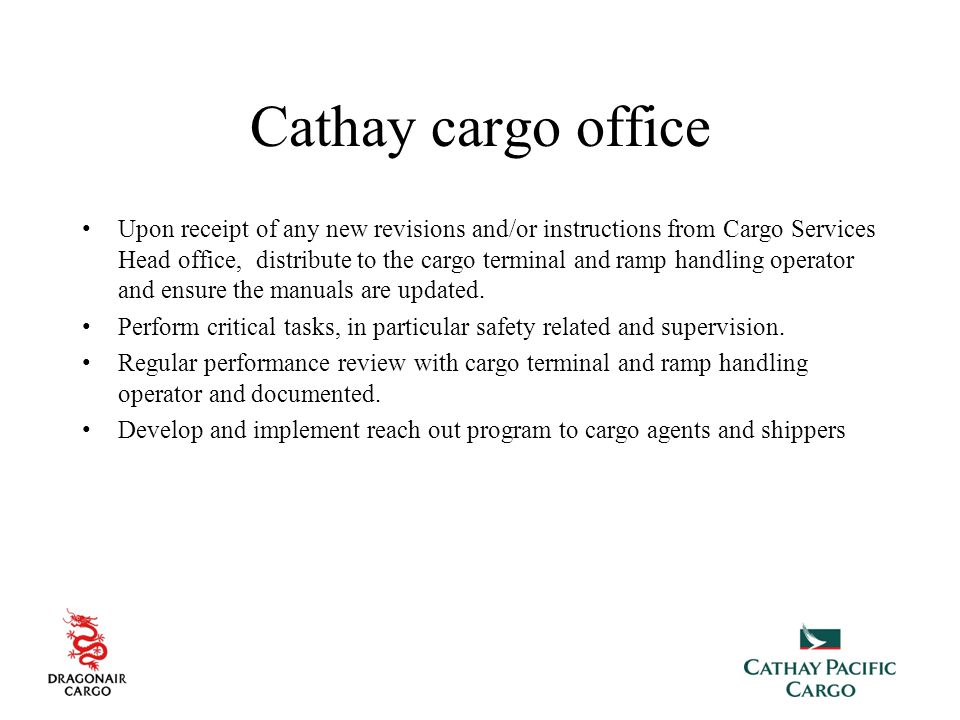 Cathay cargo office