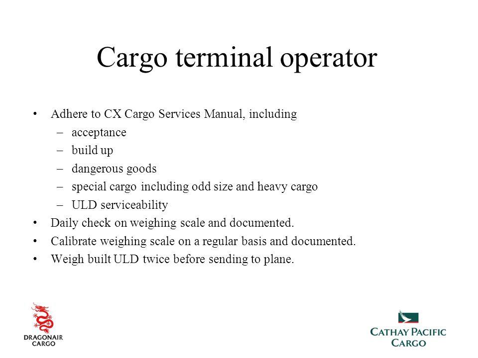 Cargo terminal operator