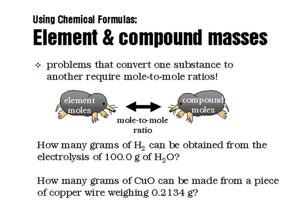 Using Compound Masses