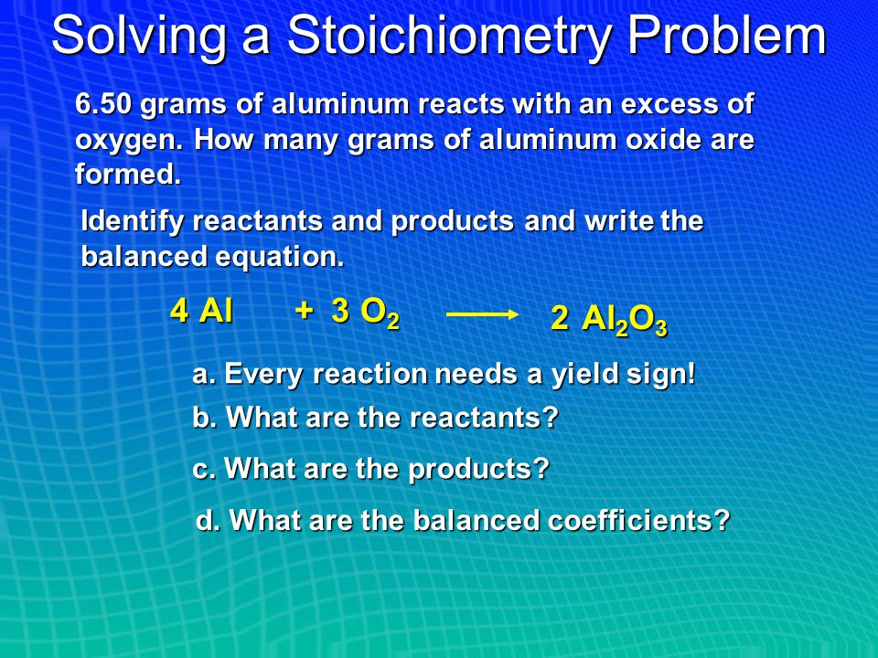 Solving a Stoichiometry Problem