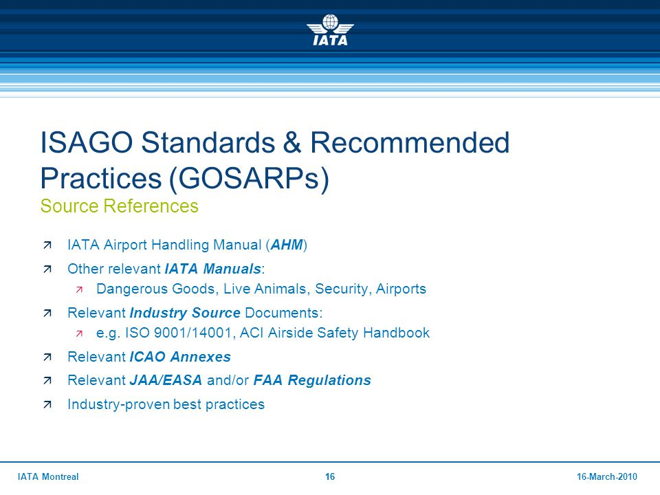 ISAGO Standards & Recommended Practices (GOSARPs) Source References