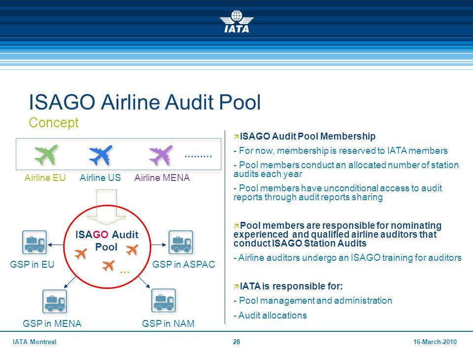 ISAGO Airline Audit Pool Concept