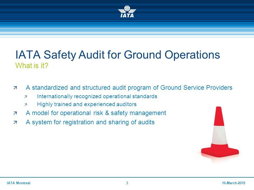 IATA Safety Audit for Ground Operations What is it