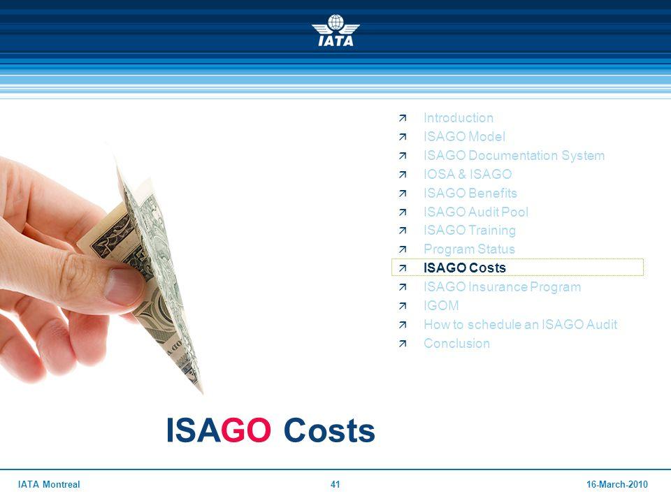 ISAGO Costs Introduction ISAGO Model ISAGO Documentation System