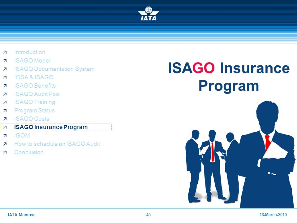 ISAGO Insurance Program