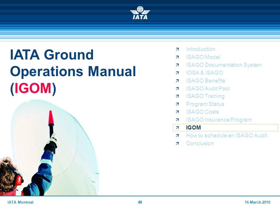 IATA Ground Operations Manual (IGOM)