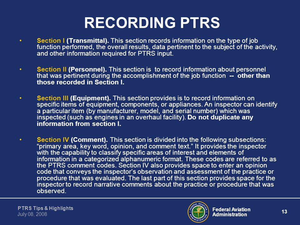 RECORDING PTRS