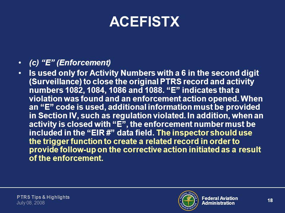 ACEFISTX (c) E (Enforcement)