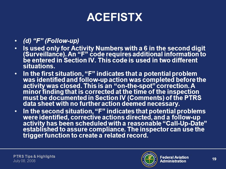 ACEFISTX (d) F (Follow-up)