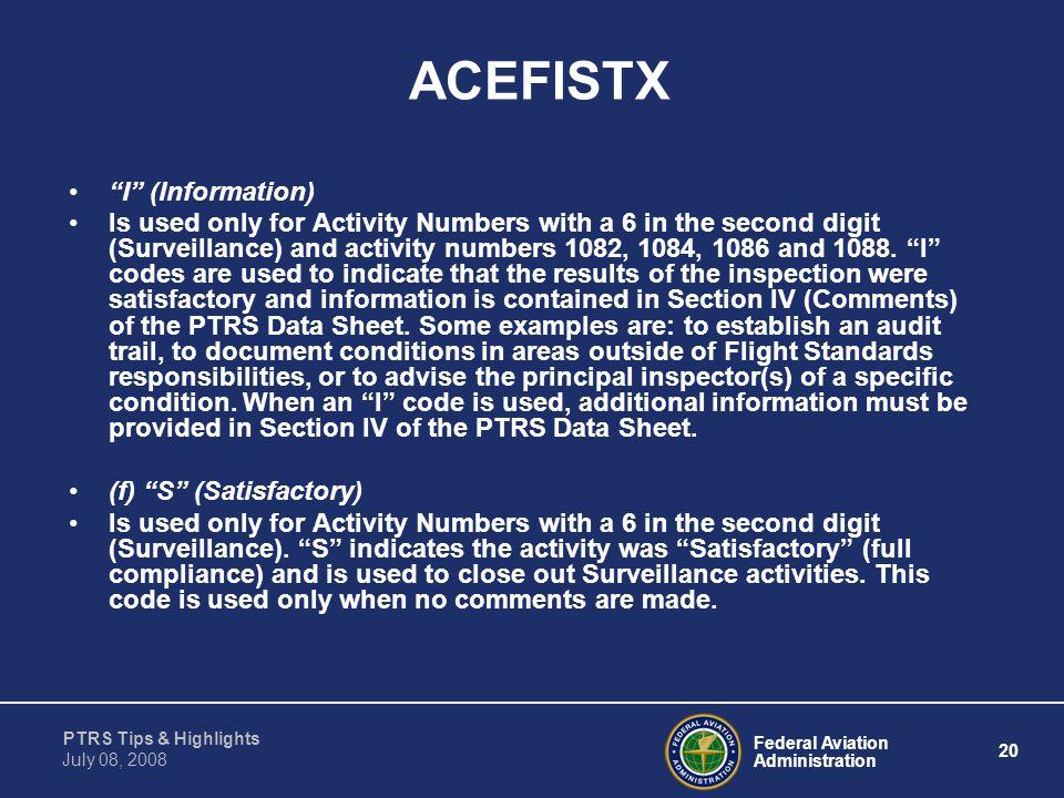 ACEFISTX I (Information)